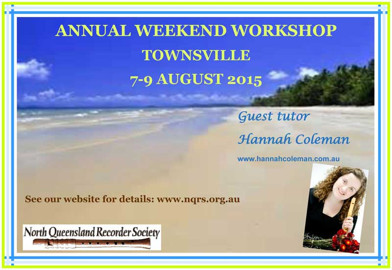 Flyer for the Weekend Workshop 8-9 August 2015